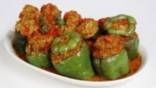 Simple Stuffed Green Peppers Recipe From Moms Garden
