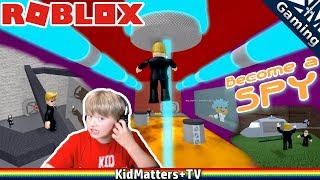 SPY KID: Dr.Mad's the Floor Is Lava...Hot Lava   Roblox Become A Spy Obby [KM+Gaming S01E50]