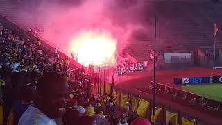 Sundowns vs WAC Casablanca, fire in stadium by Casablanca fans