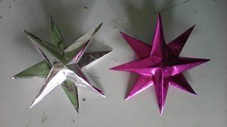 Estrela de natal para decorar arvore fácil e linda