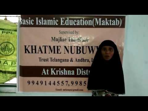 Establishment of Elementary Schools (Makaatib) in the Village of Krishna , Andhra Pradesh - India