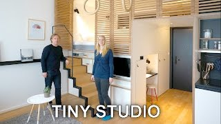 Tiny Studio Apartment - Sleeping Loft and Moving Staircase (Zoku)