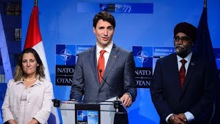 Trudeau deflects questions on Trump's NATO spending demand