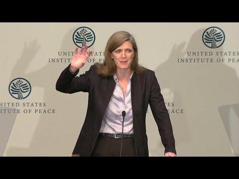 Ambassador Power Delivers Remarks on the Global Refugee Crisis
