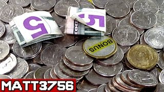 Coin Pusher for Real Money $5 Challenge for the Jackpot! | Coin Pusher Win | Matt3756