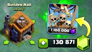 GEMMING BUILDERS HALL 7! - UNLOCKING ALL NEW FEATURES! - Clash Of Clans