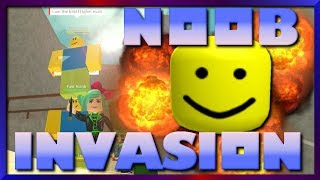 They are Crazy! Roblox Noob Invasion Game, SallyGreenGamer Geegee92 Family Friendly