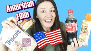 AMERICAN Food TASTE TEST  Spam Bread in A Can & Easy Cheese
