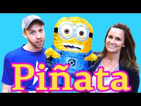 HUGE Surprise Toys Piñata Opening Minion Dave Warheads Candy Shopkins DC Comics My Little Pony