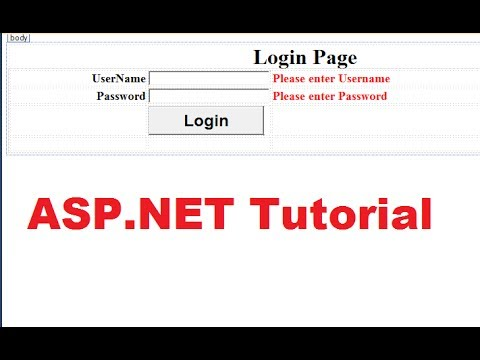Xxx Mp4 ASP NET Tutorial 6 Create A Login Website Login Page Validating User And Password In Database 3gp Sex