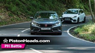 Ford Focus RS Mountune vs Honda Civic Type R | Round 2!