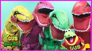 GIANT LIFE SIZE DINOSAURS IRL! Family Fun Activities Pretend Play Kids Power Wheels Ride On Car