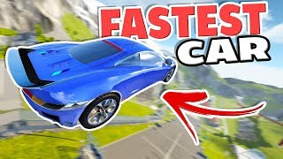 NEW CAR JUMP ARENA RECORD! FASTEST CAR IN BEAMNG! - 3 Awesome BeamNG Drive Mods