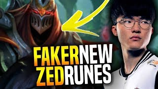 Faker Wants to Play Zed this New Season! - SKT T1 Faker Playing Zed with New Runes! | Preseason 8
