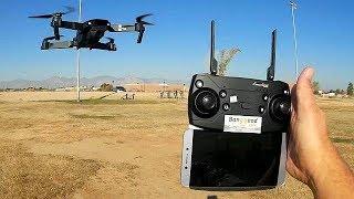 Eachine E58 720P Folding FPV Camera Drone Flight Test Review