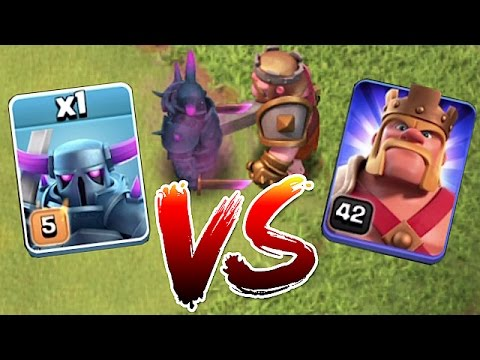watch BATTLE TO THE DEATH!!! MAX PEKKA vs. LVL 42 HERO!! | clash of clans