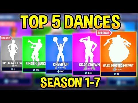 TOP 5 Best Fortnite Dances Emotes Of Every Season Nostalgia