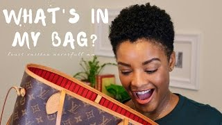 What's In My Bag: Louis Vuitton Neverfull MM l NiKesha Harden