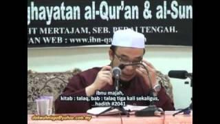 Dr Asri 6. Talaq Tiga - Jatuh Tiga - Umdatul Ahkam # 34