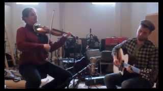 Mari and Jake jam in the recording studio
