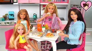 Barbie Sisters Morning & Evening Routine - Titi Toys & Dolls
