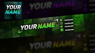Colored Gaming  YouTube Banner + Avatar Template - Free Download (PSD)