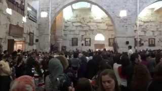 دورة جناز المسيح من كنيسة يبرود الأثرية بالتزامن مع قرع الأجراس الحزينة