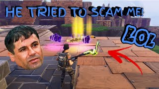 El Chapo And His Son Nearly Scammed Me (Scammer Gets Scammed) Fortnite Save The World
