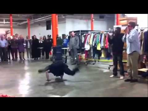 Street performer vs. NYPD police officer dance off