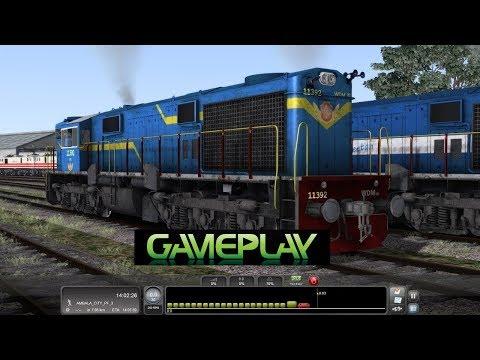Indian Train driving at Train Simulator 2014 Gameplay