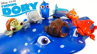 DISNEY PIXAR FINDING DORY MOVIE TOYS SWIGGLEFISH ROLLING RACERS NEMO SQUIRT HANK