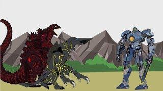 GODZILLA 2 King of the Monsters - SHIN GODZILLA - Kaiju vs Gipsy Danger (Part 4)