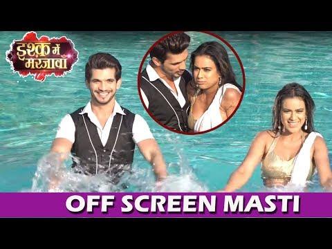 Xxx Mp4 Arjun Bijlani Amp Nia Sharma POOL Masti Offscreen Fun Moments On Ishq Mein Marjawan Sets 3gp Sex