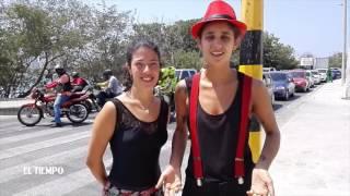 Dos argentinas bailando tango en Cartagena   EL TIEMPO   Febrero
