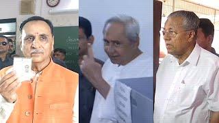 Lok Sabha Elections: CMs of Kerala, Gujarat and Odisha vote in Phase 3
