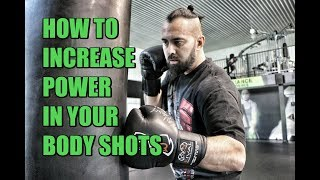 How to Increase POWER in your Body Shots | 4-Count Body Shot Drill | Heavy Bag | Boxing | Muay Thai