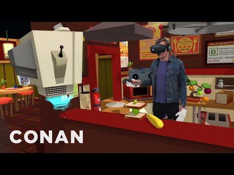 Conan Visits YouTube's VR Lab  - CONAN on TBS