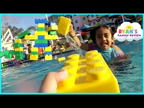 LegoLand Hotel Swimming Pool Tour Kids Playtime at the Pool Family Fun Vacation