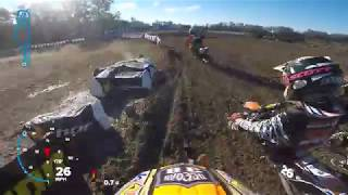 Must see last lap pass for the WIN! With the Dangerboy Deegan Gopro Helmet Cam  Minio's  2017