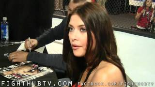 Arianny Celeste signs Joe Henle's chest with Macaroni love