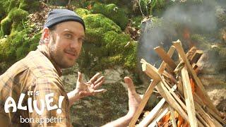 Brad Grills Steak on a Campfire   It