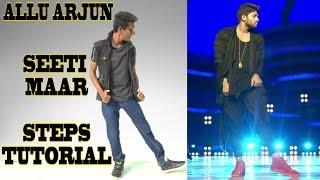 Allu Arjun - Seeti Maar   DJ   Signature Step Tutorial   Nishant Nair
