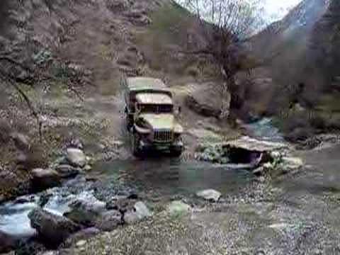Ural 4x4 truck in Tien Shan Mtns Kyrghyzstan 1