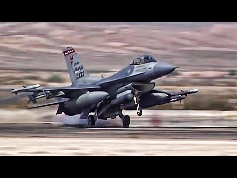F 16 Fighter Jets Preflight Takeoff Landing At Nellis AFB