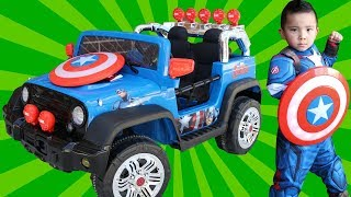 Dynacraft Avengers Captain America 12V Electric Ride On Car Superhero Fun With Ckn Toys