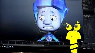 Фиксики - Секреты фиксиков (7). Риг. Управление 3D-моделями. Как создается мультфильм.