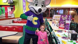 Chuck E Cheese Family Fun Playtime! Arcade Games and Indoor Play Area For Kids