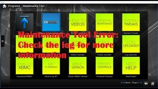 How to fix Maintenance Tool Error: Check the log for more information