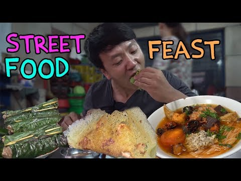 Traditional Vietnam Street Food FEAST in Saigon SIXTEEN DESSERTS