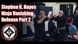 Grand Master Stephen K. Hayes: Ninja Vanishing Defense Part 2